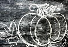 Simple Halloween - Draw a Pumpkin with Chalk #chalkboard #halloween