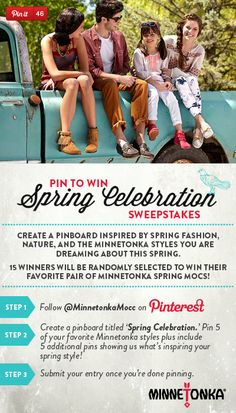 Pin for your chance to win in the Minnetonka 'Spring Celebration' Sweepstakes!