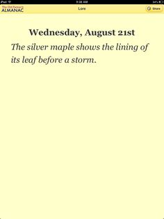From The Old Farmer's Almanac Weather Lore App for iOS and Android