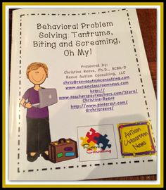 Autism Classroom News: Resource Roundup from Behavioral Problem Solving. Repinned by SOS Inc. Resources pinterest.com/sostherapy/.