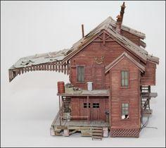 fine scale miniatures ho buildings | FSM FINE SCALE MINIATURES DUFFY'S COAL BUILDING BUILT STRUCTURE. PART ...