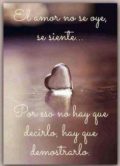 El amor: no se, heart, cita, se oye, se sient, frase, el amor, pensamiento, quot