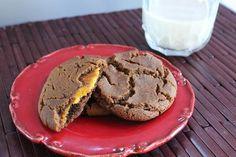 Pumpkin Cheesecake Filled Gingersnaps #vegan