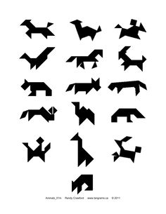 Tangram animal shapes