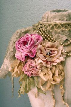 I ❤ ribbonwork . . . Ribbon flowers Meadow Street My favorite for ribbon flowers!! LOVELOVELOVE