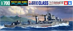 Tamiya British Destroyer E Class 1/700 Scale Water Line Series Plastic Model Ship Kit - available from Hobbies, the UK's favourite online hobby store! only £14.99 + P&P