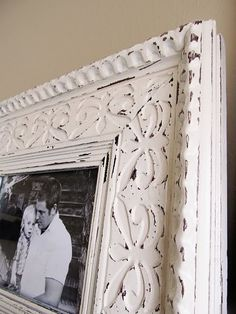 decor, project, craft, idea, quick frame, frame makeov, rustic frame, frames, diy