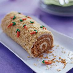Carrot Patch Cake Roll for Easter