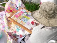handquilting in the sun by qusic, via Flickr