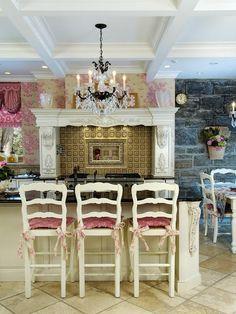 Pink Toile Kitchen