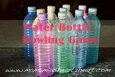 Water bottle bowling!