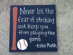 Baseball Canvas Painting by CanvasByWhitney on Etsy, $35.00
