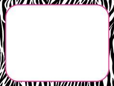 Pink Animal Print Border