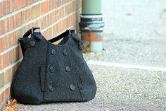 Gray Tweed Bag