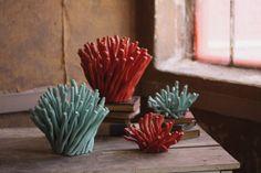twig coral sculpture \ aqua  $45.00
