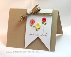 Create a banner card with a square die---photo tutorial on blog.