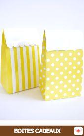 boites à cadeaux jaunes à pois ou rayées #red #rouge #circus #cirque #party #birthday #sweettables #anniversaire #partyideas