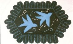 Swallows in Flight Penny Rug Kit by acrossgenerations on Etsy, $30.00