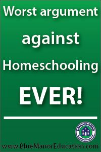 I have heard a lot of ridiculous arguments against homeschooling, but this one tops them all!