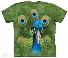 Vibrant Peacock T-Shirt at theBIGzoo.com, a family-owned store. Check our sales & FREE Shipping.