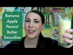 Trying the Banana Apple Peanut Butter Smoothie seen on Pinterest