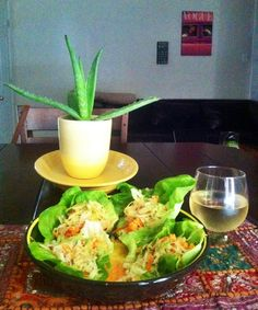 5 Ingredient Vegetarian Spicy Lettuce Wraps
