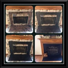 Yup! Plasti-Dipped the Fireplace
