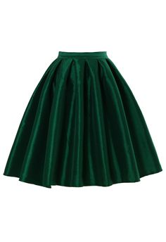 Green A-line Midi Skirt by: Chicwish