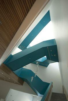 Sogn & Fjordane Art Museum by C.F.Møller Architects la mode, architects, møller architect, art museum, stairs, museums, haus, fjordan, norway