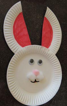 Paper Plate bunny, Preschool Easter