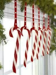 Cute display for candy canes! What's Christmas without candy canes?!