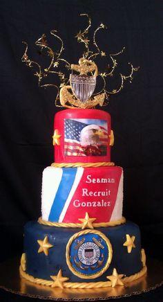 Coast Guard Grooms Cake
