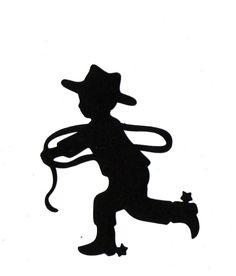 Little cowboy sillouette