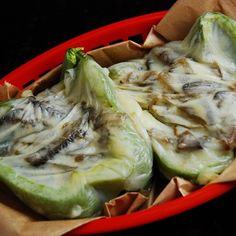 Vegetarian Cheesesteak Stuffed Peppers from LaaLoosh