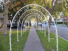 Lighted arches made