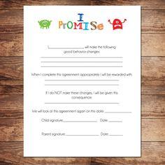 printabl relationship, kid behavior, boy contract, relationship contract, behavior contract