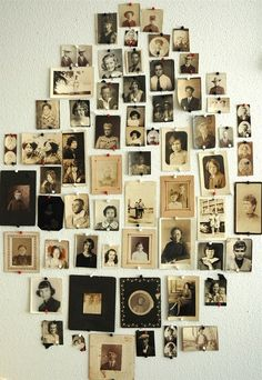 old picture wall collage.