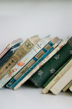 Pretty, old books.