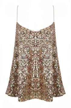 Gold Sequin Cami Top Buy Online