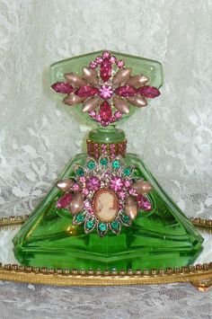 Antique Bejeweled Perfume Bottle by Debbie Del Rosario