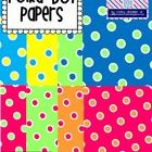 These polka dot papers are perfect to use with all of your products! There are 8 coordinating papers. Hope you like them! :)   FREEBIE!