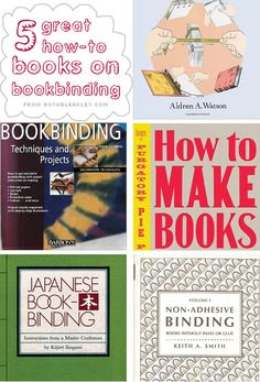 5 great how-to books on #bookbinding from RuthBleakley.com