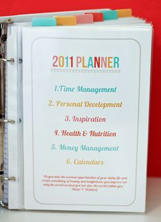 Rocking Day Planner idea