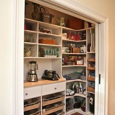 Storage Closet for Kitchen home organizing idea