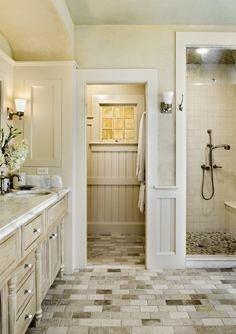 Master bathroom idea? Love the colors.. Just needs a shower for two since we always shower together and double sinks and a bath tub for 2 as well :)