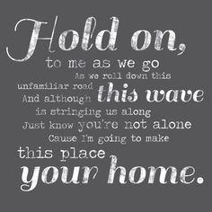 Phillip Phillips Home Lyrics Wall Decor by GeezeesCustomCanvas