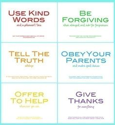 good rules to live by w/ Bible verses
