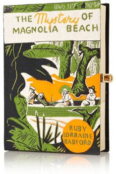 The Mystery of Magnolia Beach embroidered clutch by: Olympia Le-Tan