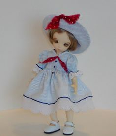 Little Fee Leah models Sailor Dress Accented with Eyelet | Flickr - Photo Sharing!