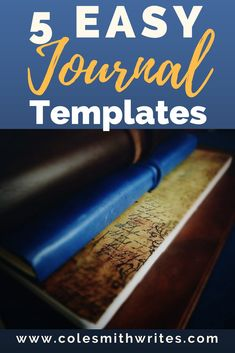 Try one of these easy journal templates to keep you on track with your #journaling.